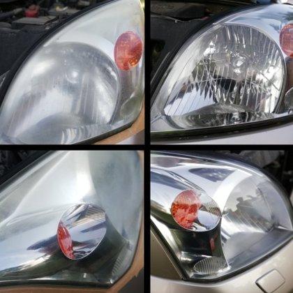 Toyota Landcruiser lukturu pulēšana.